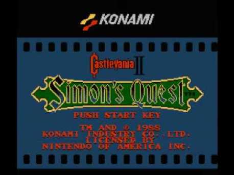 Simon's Quest menu