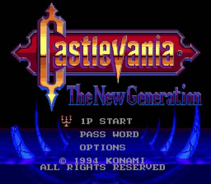 castlevania the new generation title screen